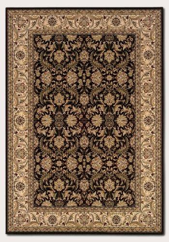 Couristan 6259/1000 Himalaya Isfahan/Ebony-Antique Cream 2-Feet by 3-Feet 7-Inch Rug