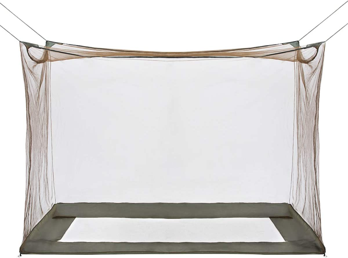 GLORYFIRE Camping Mosquito Net Four Corners Enhanced Tactical Mosquito Net Outdoor Mosquito Net Bar Olive Drab: Sports & Outdoors