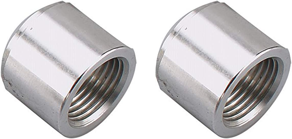 AC PERFORMANCE Aluminum Female 1//2 NPT Weld On Bung Pack of 2 1//2 Weldable Fuel Tank Fitting Natural