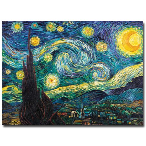 "Trademark Fine Art ""Starry Night"" Canvas Art by Vincent van"