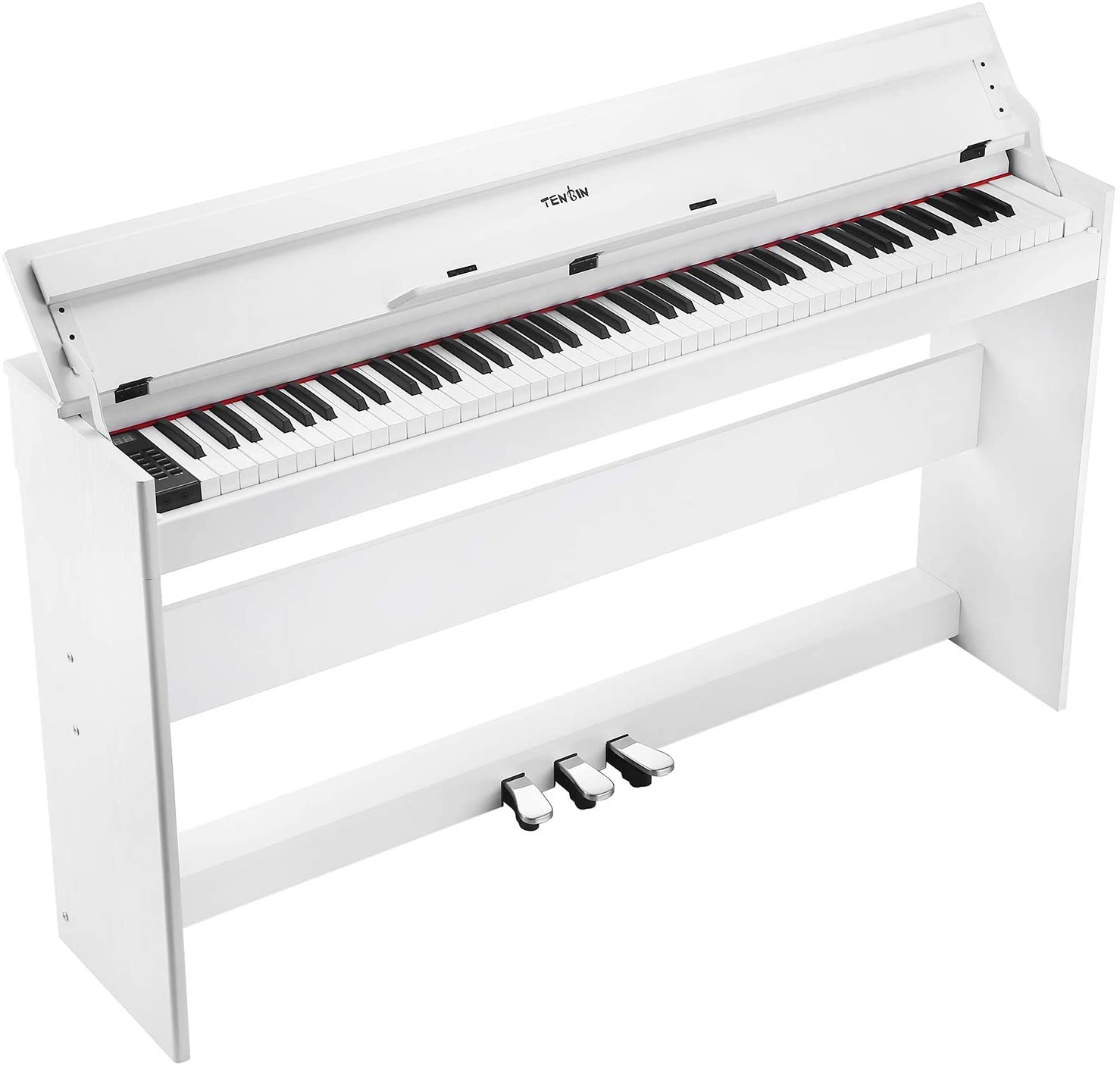 TENB Beginner Digital Piano,88 Key Full Size Semi Weighted Keyboard,Built in Speakers and Power Supply,Home Digital Piano USB/MIDI/Pedal/Audio/Headphone,Suit for Kids,Adults,Beginner