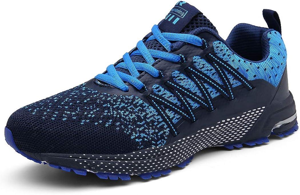 SOLLOMENSI Laufschuhe Damen Herren Sportschuhe Straßenlaufschuhe Sneaker Joggingschuhe Turnschuhe Walkingschuhe Schuhe 44 EU A Blau: Amazon.de: Schuhe & Handtaschen - Joggingschuhe