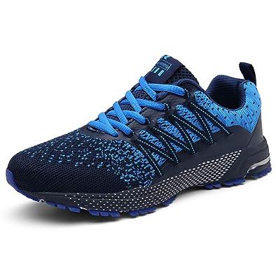SOLLOMENSI Zapatillas de Deporte Hombres Mujer Running Zapatos ...