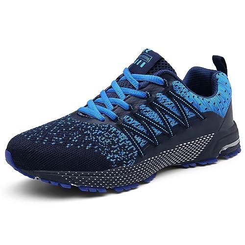 SOLLOMENSI Zapatillas de Deporte Hombres Mujer Running Zapatos para Correr Gimnasio Sneakers Deportivas Padel Transpirables Casual Montaña
