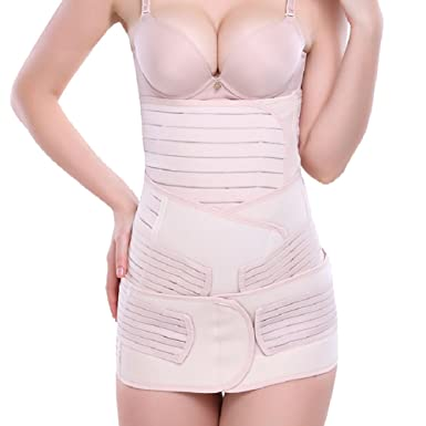 70239f7a17 3 in 1 postpartum support Girdle Recovery Belly Belt Body Postnatal  Shapewear (one size