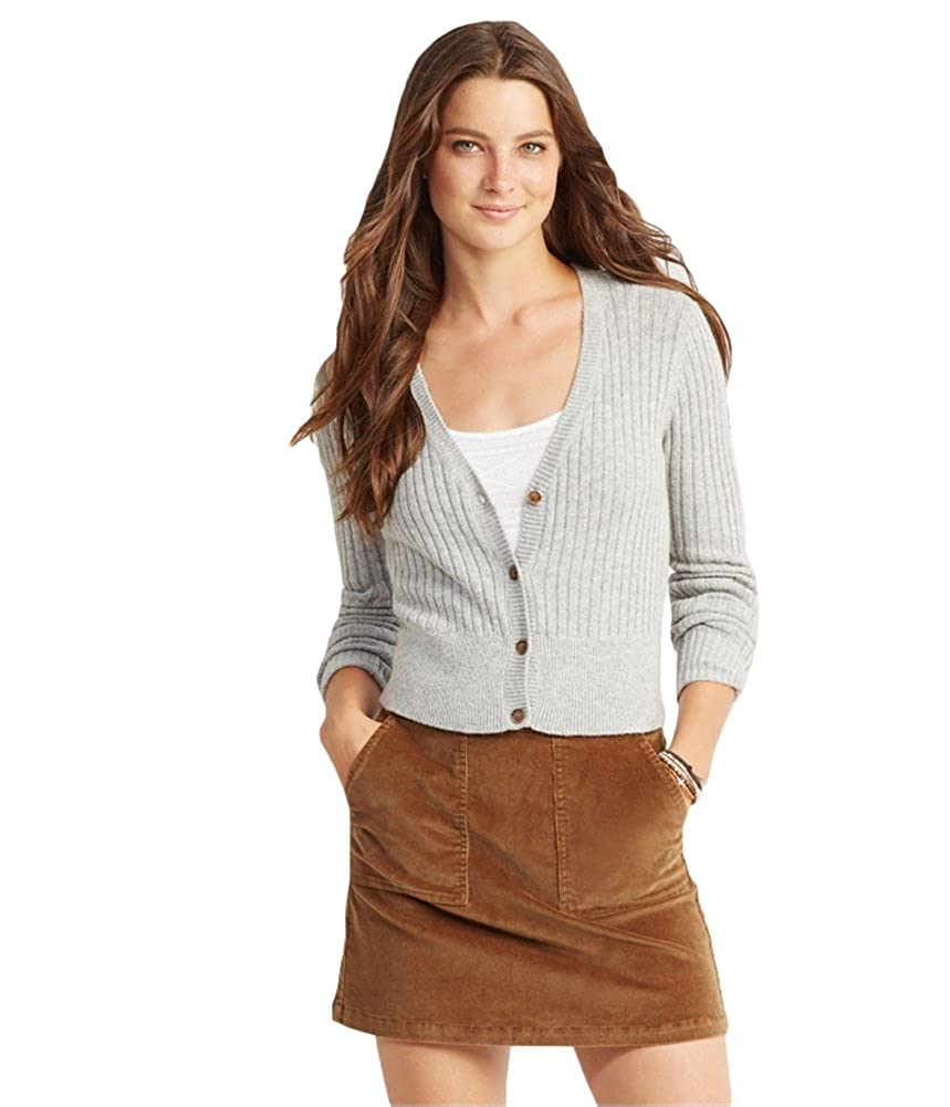 Aeropostale Womens Cable Knit Cardigan Sweater
