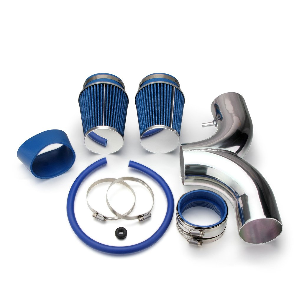 AutoHorizon Dodge Ram Dakota Chevrolet Corvette Cold Air Intake Pipe Kit Set (Blue Filter)