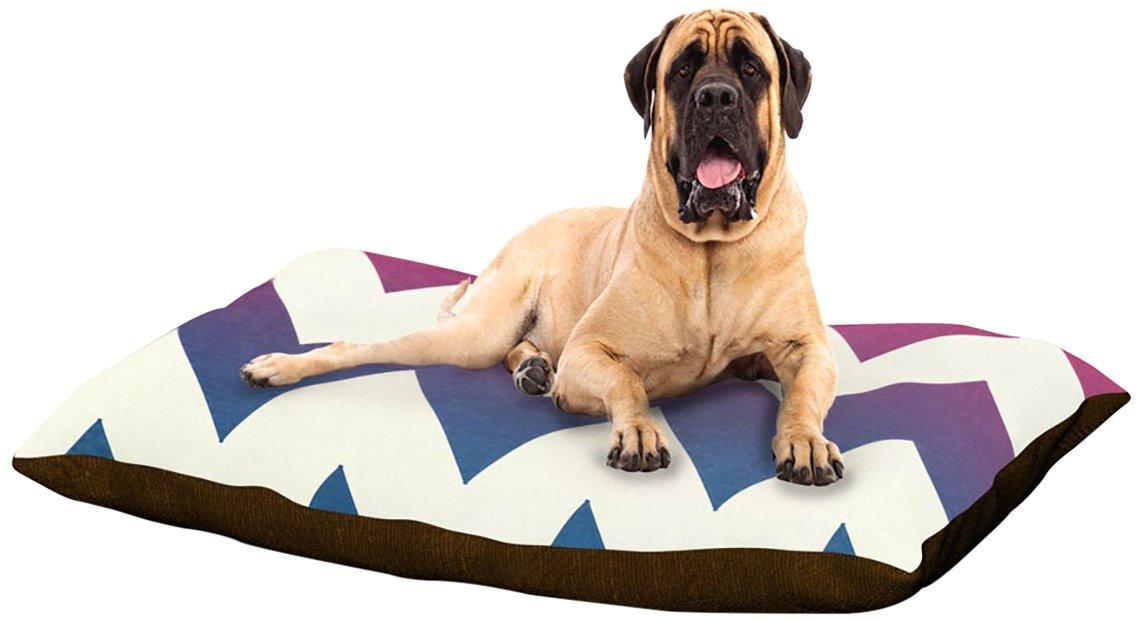 Fade to bluee Chevron XLarge 40  x 50 Kess InHouse Catherine McDonald Juicy Chevron Fleece Dog Bed, 30 by 40Inch