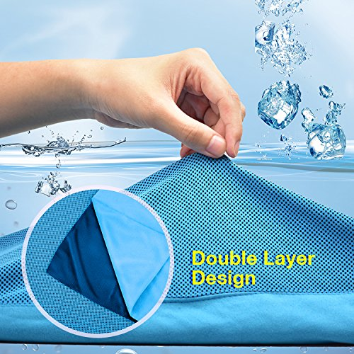 PELLIOT Evaporative Cooling Towel Instant Cool Soft Breathable Ice Towel for Sports, Fitness, Workout, Yoga, Outdoor Activities Camping & Hiking