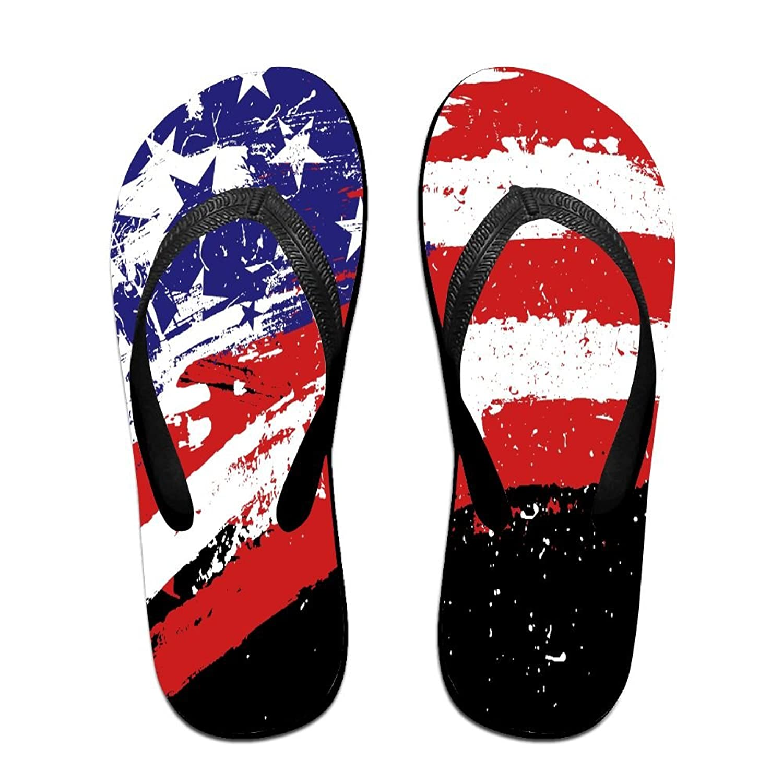 d6bfdd7f9f7 50%OFF Watercolor US America Flag Unisex Fashion Beach Sandals Classical Flip  Flops Thong Sandals