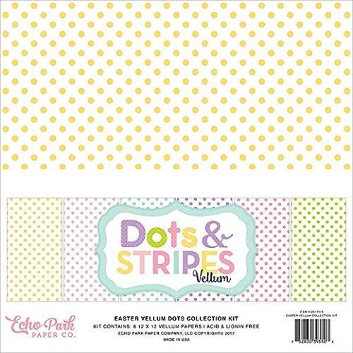 Echo Park Dots & Stripes Easter Vellum 12