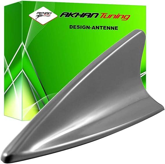 ANTS519 - SHARK ANTENA Antena Aleta de tiburón en forma de coche decorativo Antena DUMMY antena de techo PLATA