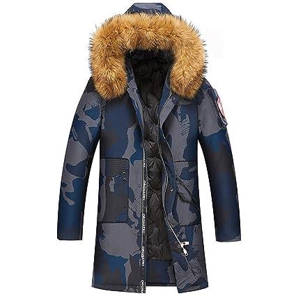 Amazon.com : Rayem New Down Jacket, Mens Trend Long Hooded ...