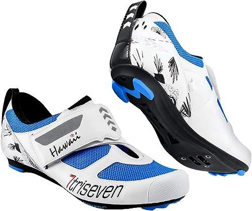 TriSeven Chaussures de Cyclisme pour Homme