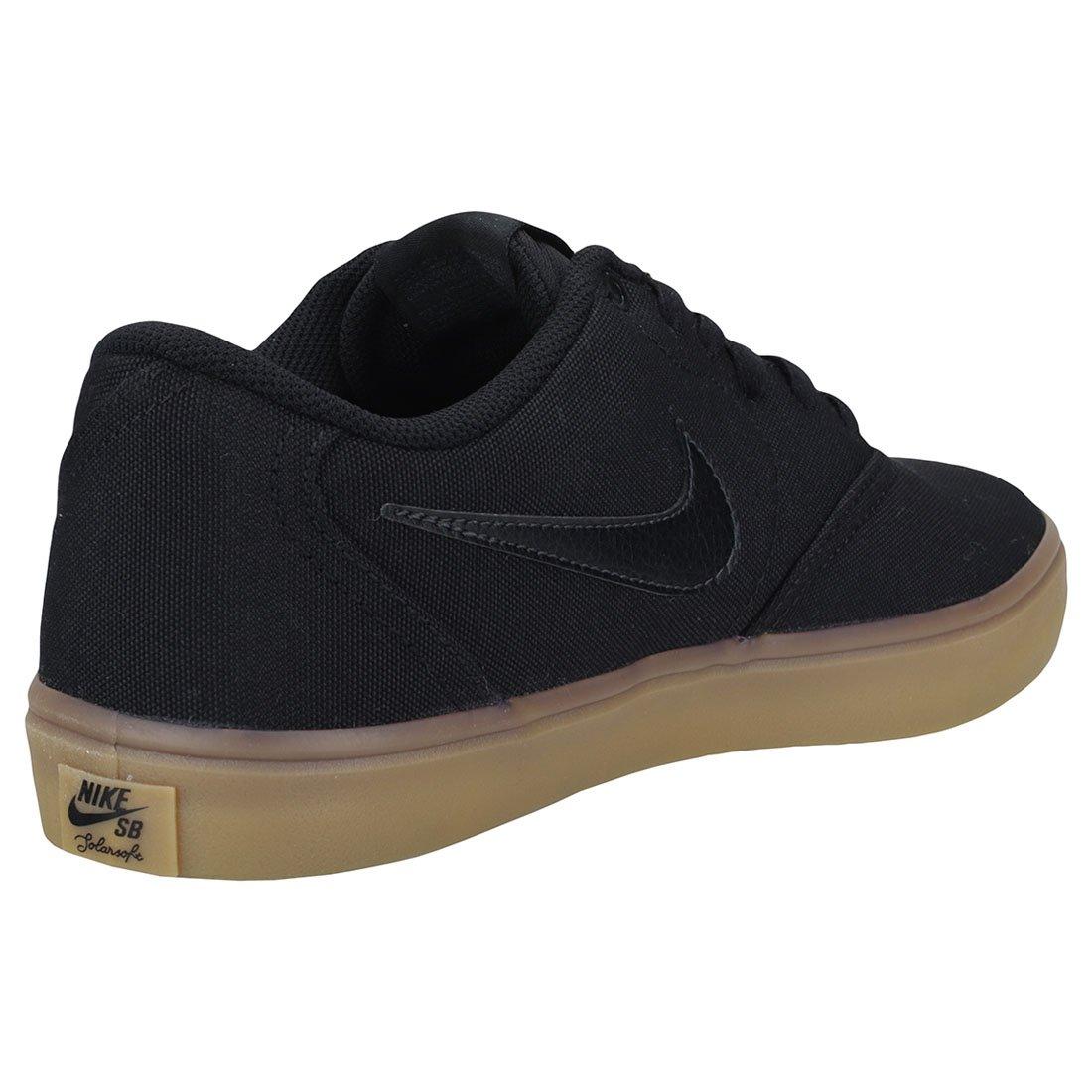 Nike Men's SB Check Solarsoft Canvas Skateboarding Shoes Black/Black-Gum Light Brown 10 by Nike (Image #2)