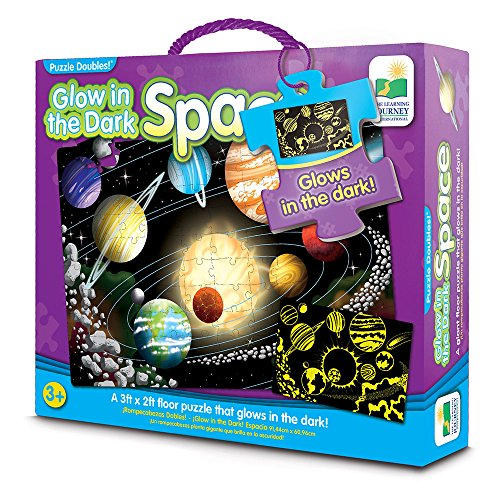 Solar System Cardboard Jigsaw (The Learning Journey Puzzle Doubles, Glow In The Dark, Space)