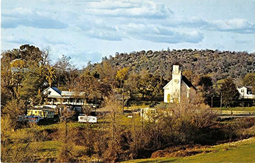 Smartville California View Of Church And Other Building Vintage Postcard V14117