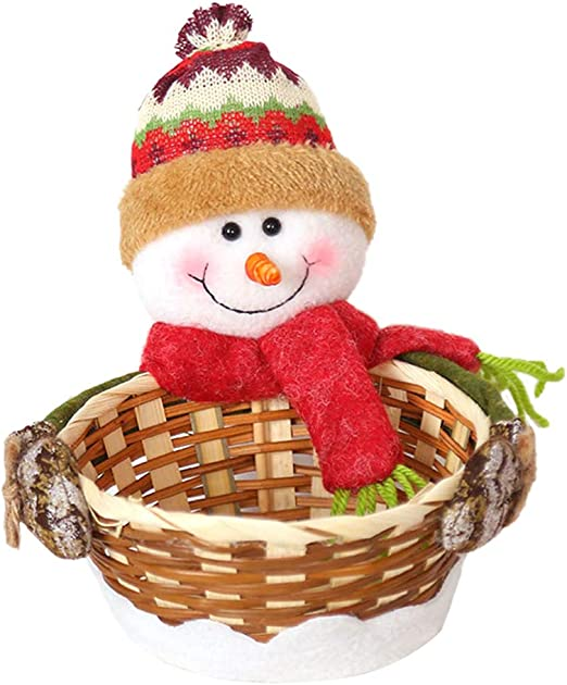 Auplew Cesta de Almacenamiento de Dulces navideños Decoración ...