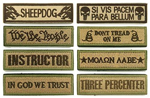 WZT Bundle 8 pcs Tactical Military Morale Patch Set