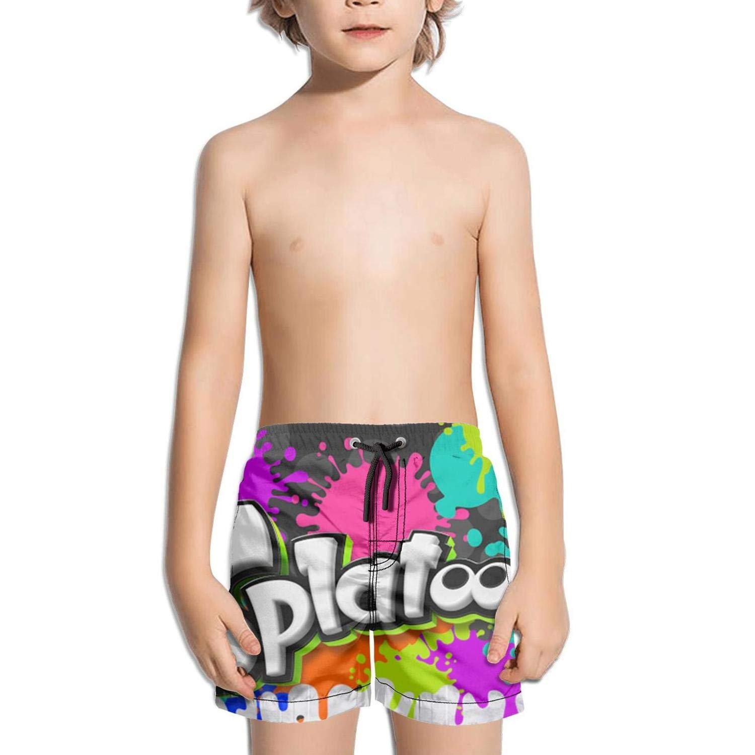 ughbhjnx Kids Tropical Stretch Board Slim Fit Swimming Trunks Beach Shorts