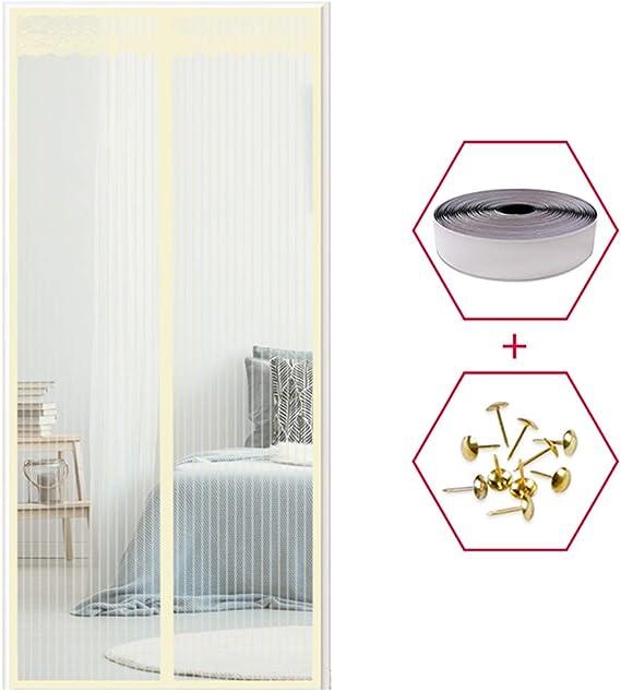 YXDDG Cortina magnética Cortina de Malla Resistente Resistente de Fibra de Vidrio Doble Perros instantánea imanes francés Cat Prueba Cristal Garaje-Amarillo 100x200cm(39x79inch): Amazon.es: Hogar