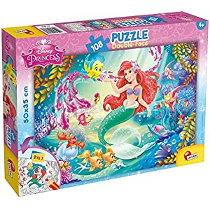 Lisciani Giochi 48069 Sirenetta Puzzle Doppia Faccia Plus 108 Pezzi