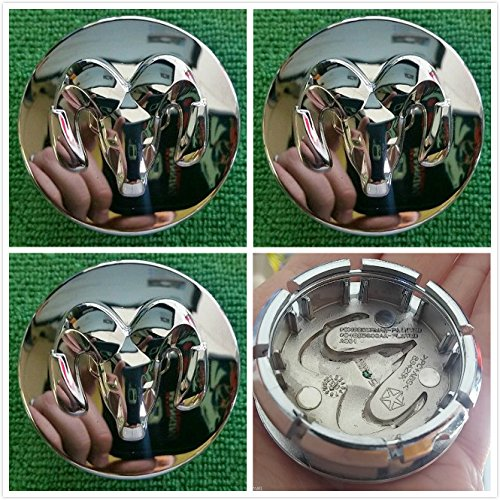 Gosweet 4X Brand NEW Four Pieces Set of 54mm CHROME Dodge Challenger Caravan wheel Charger Magnum Nitro Stratus WHEEL CENTER CAP 04895900AA US Fast Shipment - Dodge Caravan Center