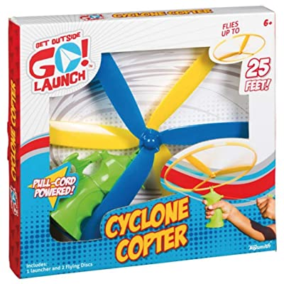 Cyclone Copter Flying Disc, Zip and Launch Toy, Disc Launcher: Sports & Outdoors