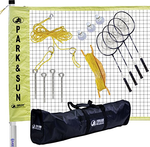 Park & Sun Sports Portable Indoor/Outdoor Badminton Net System with Carrying Bag and Accessories: Tournament Series by Park & Sun Sports
