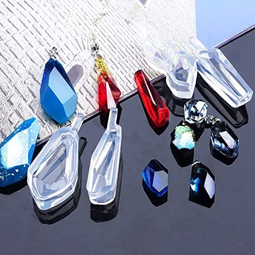 Comidox Crystal Silicone Mold DIY Making Mould Resin Craft for Necklace Pendant Jewelry 1pcs