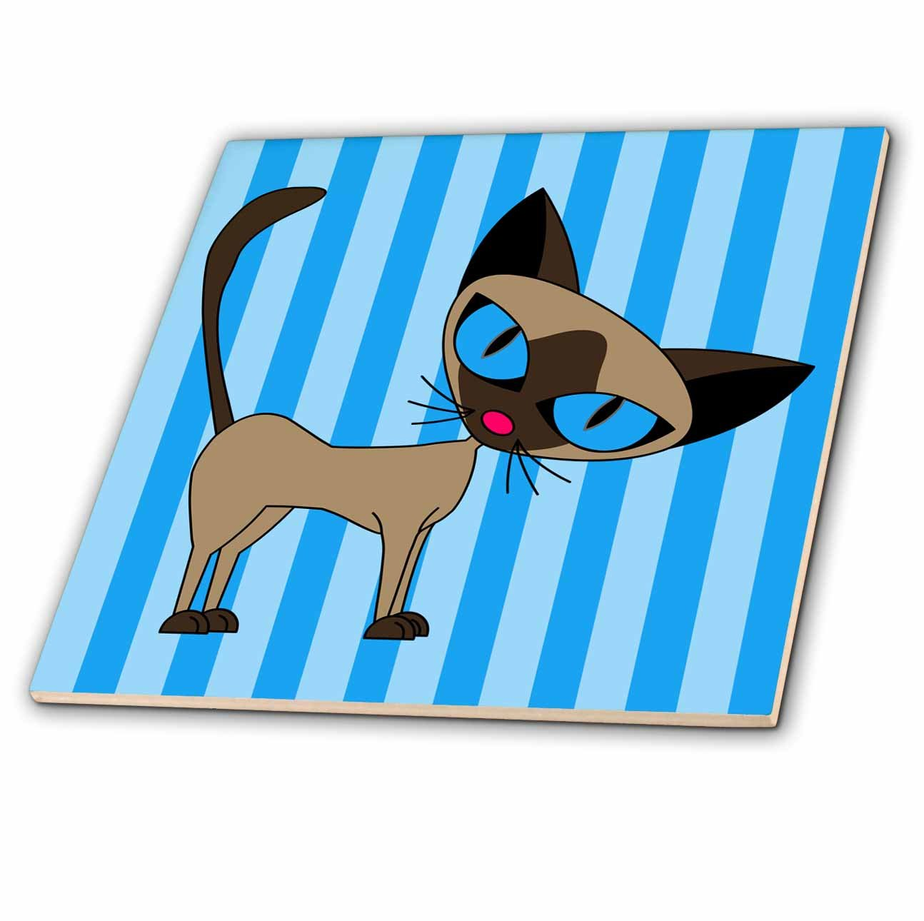 ct/_6167/_2 6 Inch Ceramic Tile Cute Siamese Cat Design 3dRose Janna Salak Designs Cats