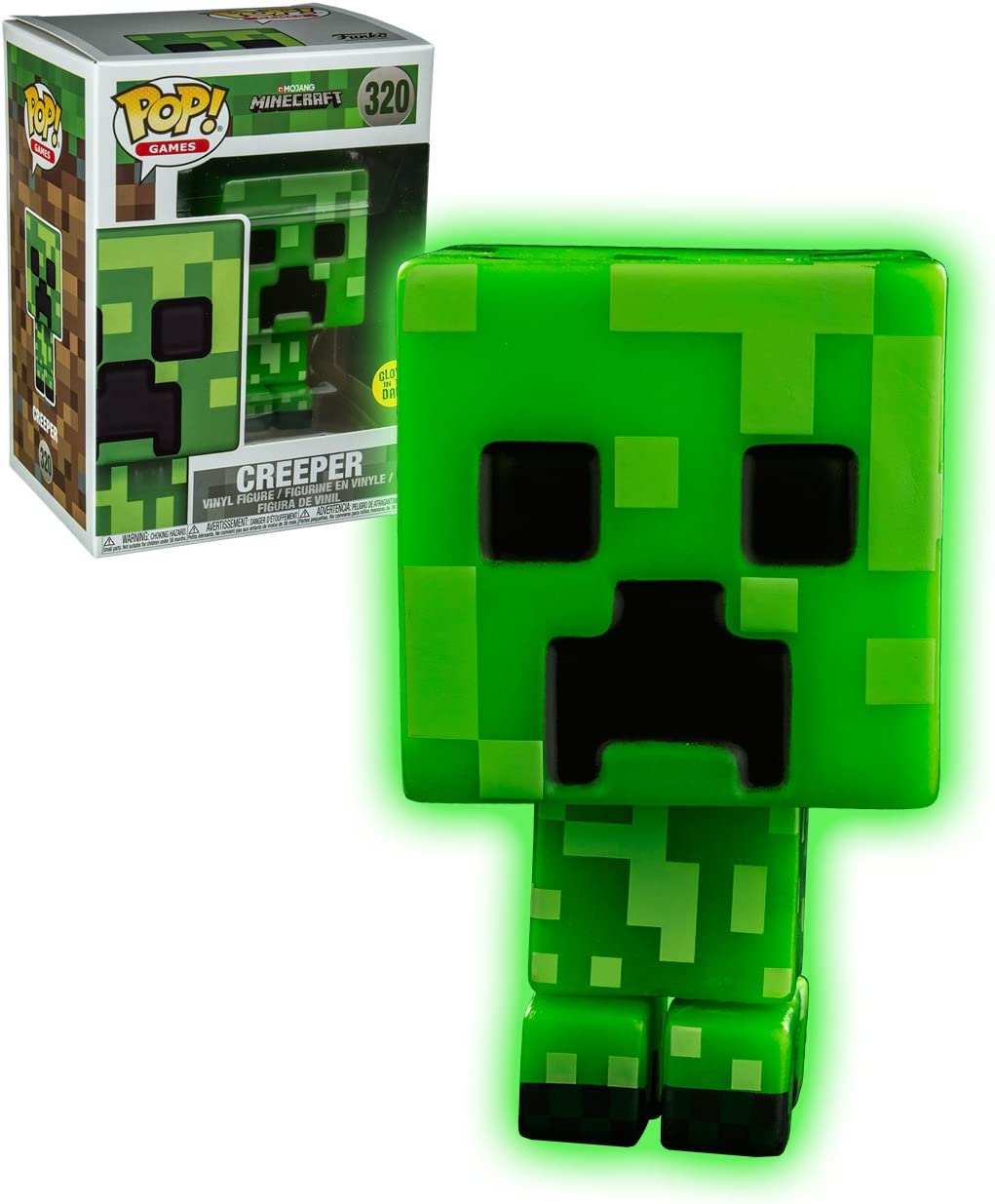 Funko - Figurine Minecraft - Creeper Glow in The Dark Exclu Pop ...