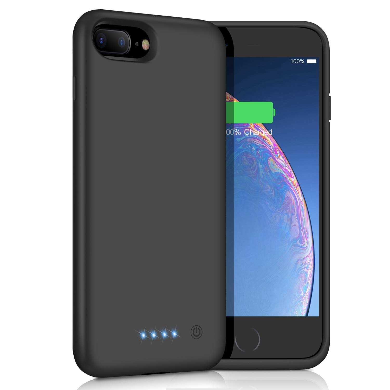 Battery Case for iPhone 8 Plus/7 Plus, [8500mAh] Xooparc Protective Portable Charging Case Rechargeable Extended Battery Pack for Apple iPhone 8 Plus&7 Plus (5.5') Backup Power Bank Cover - Black by Xooparc (Image #9)