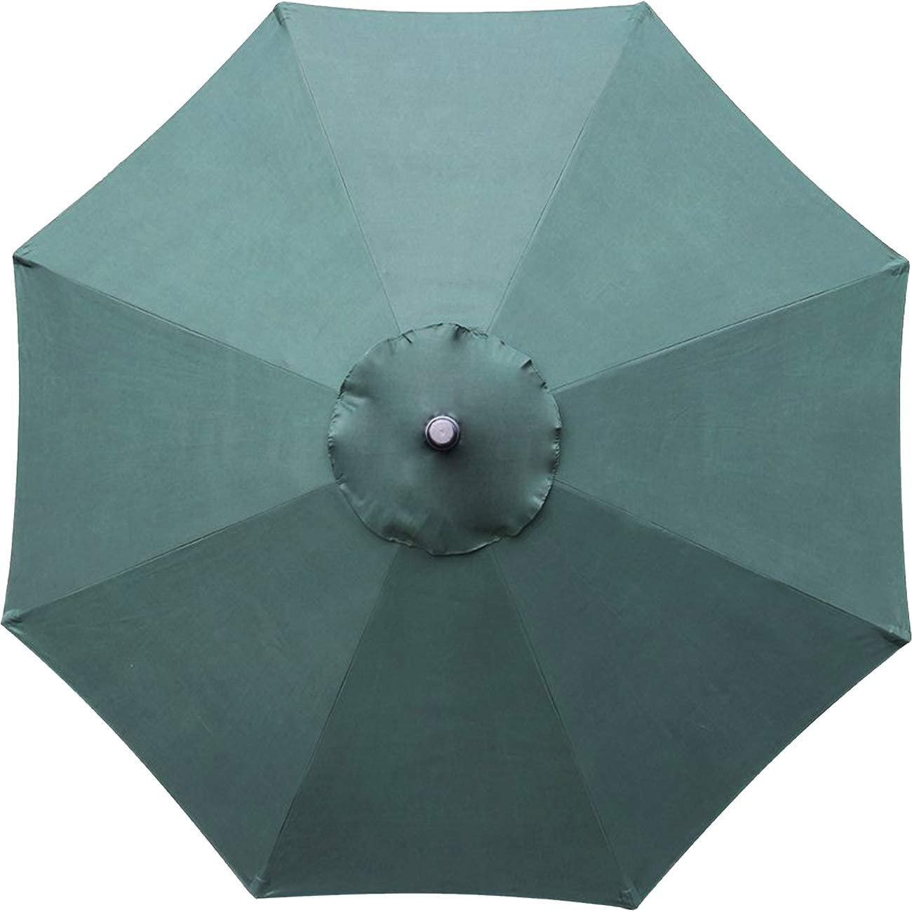 Sunnyglade 9ft Patio Umbrella Replacement Canopy Market Umbrella Top Outdoor Umbrella Canopy with 8 Ribs (Green)