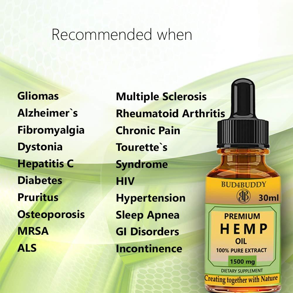 Hemp Oil for Pain & Anxiety Relief - 1500mg Full Spectrum Organic Hemp  Drops - Natural Hemp Oils for Better Sleep, Mood & Stress - Pure Hemp  Extract