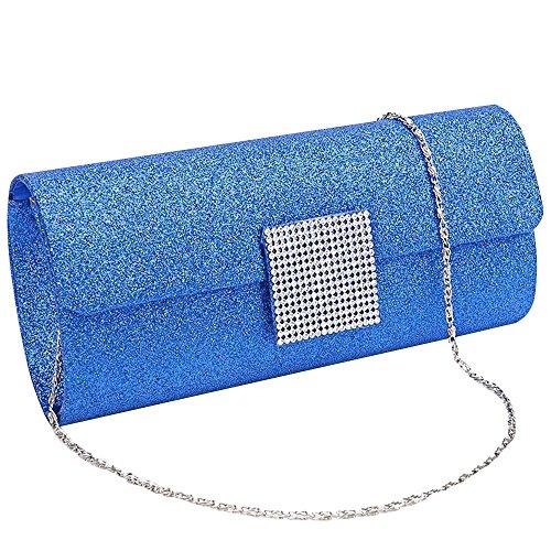 Chain Bag Shoulder Cosmetic Clutch Hot Sale Women black Party Wiwsi Glitter Purse Handbag 4AZBOx