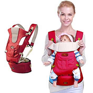 143372ce4bd Amazon.com   ANBEAUT 0-36m Infant Toddler Ergonomic Baby Carrier Sling  Backpack Bag Gear with Hip Seat Wrap Newborn Cover Coat for Babies Stroller  (One Size ...