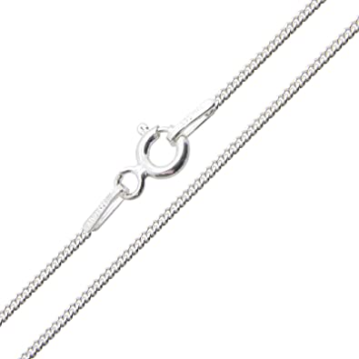 Sterling Silver Curb Chain In A Gift Box - 14, 16, 18, 20, 22 and 24 inches long