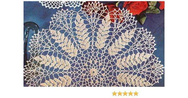 Vintage Crochet PATTERN to make Wheat Sheaf Motif Doily Mat Centerpiece Wheat