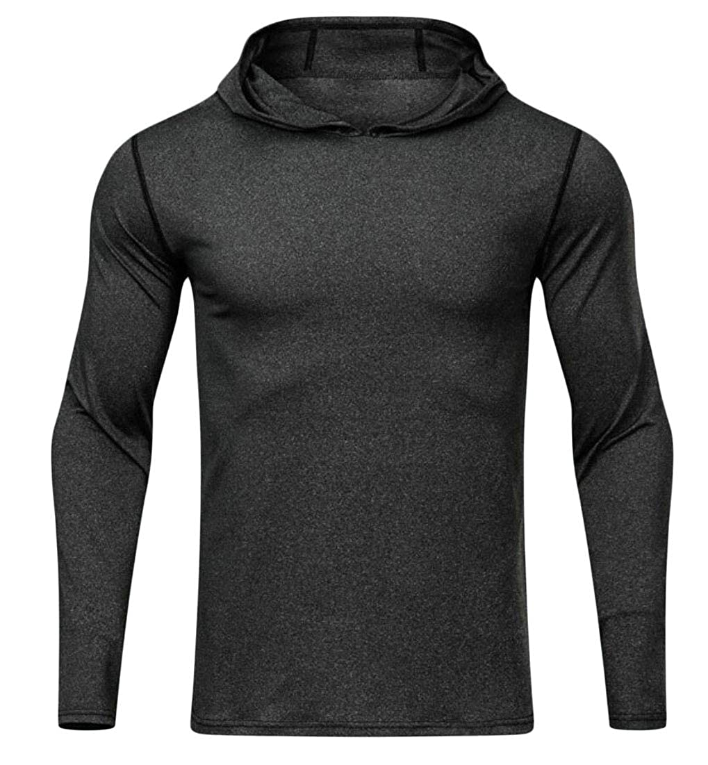 Alion Men Hoodies Pullover Long Sleeve Active Gym Casual Workout Sweatshirts