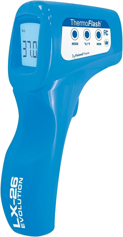 Visiomed PCA Thermoflash Lx26E Bleu Tonic Thermom/ètre M/édical sans Contact