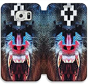 Samsung Galaxy S6 Edge Cell Phone Case Marcelo Burlon Colorful Printing Leather Flip Case Cover 6ERT446397