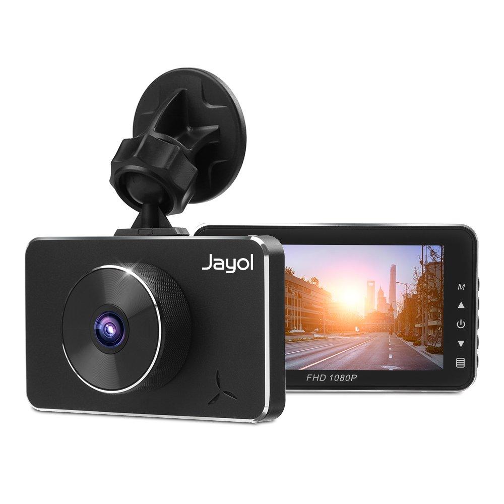 Jayol Dashcam 1080P FHD Auto Kamera mit 3' IPS Bildschirm, 170° Weitwinkelfahrt Video Recorder WDR, SONY Sensor, 360° drehbare Panorama Dash Camera, Loop-Aufnahme, Nachtsicht, G-Sensor, Park Monitor, Bewegungserkennung
