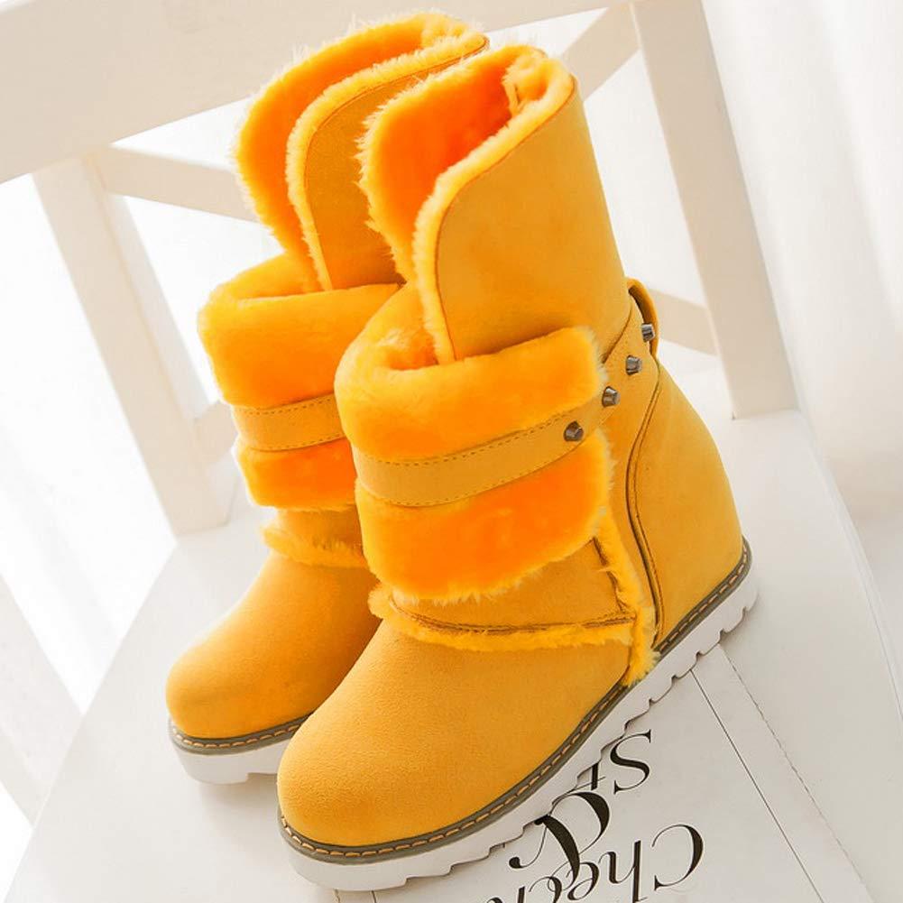 Frauen Winter Schnee Schnee Schnee Stiefel Warme Plüsch Gefüttert Freizeitschuhe Pelz Wildleder Höhe Zunehmende Verschleißfeste Ankle Stiefelie ac47a4