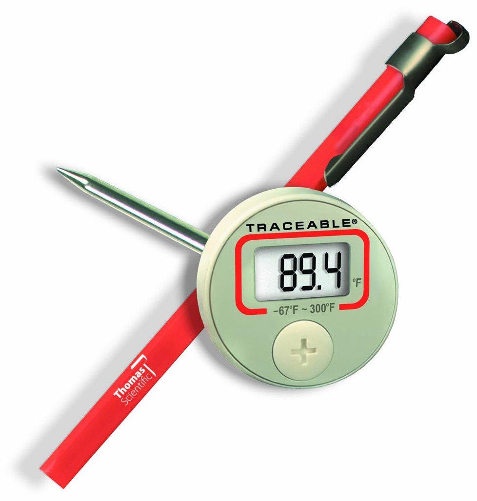 4-3//4 Stem -55 to 149 degree C 4-3//4 Stem Thomas Scientific 4044 Thomas Traceable Digital Thermometer