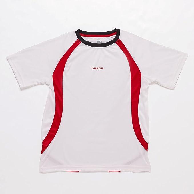 Dafor Camiseta Fútbol Niños Blanca (Talla: 8)