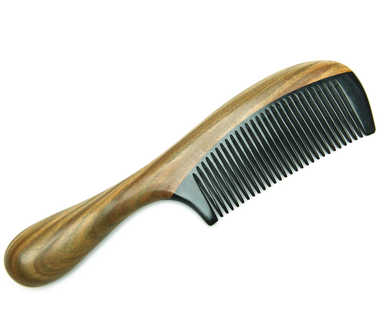KammHolz Kamm Handgemachte Haar Kamm Der Sandelholz kammHolznat/ürliche Weitzahnige Pfirsichkamm Gesunde Nicht-Statische Massage Haar Holzkamm Friseurwerkzeuge