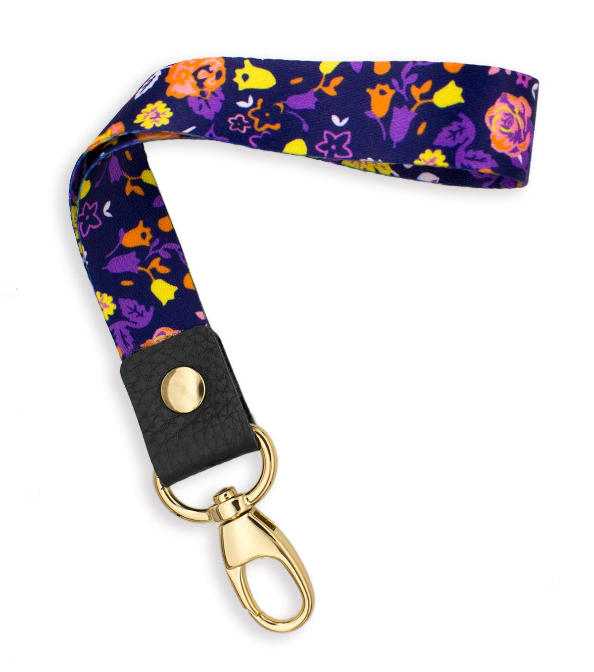 SENLLY Daisies Hand Wrist Lanyard Premium Quality Wristlet Strap with Metal Clasp and Genuine Leather, for Key Chain, Camera, Cell Mobile Phone, Charms, Lightweight Items etc SENLLY-GS-PL