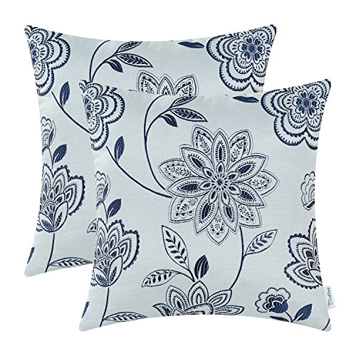 light blue and white throw pillow - 3
