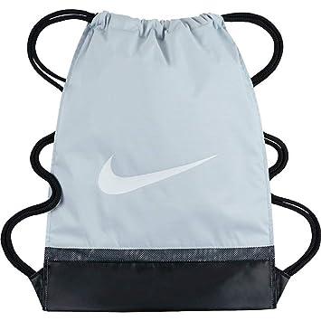 Nike Unisex s BRSLA GMSK Gymsack, Pure Platinum Black White, One Size 8b0ac23354